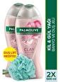 Palmolive Palmolive Spa Therapy Clay Rejuvanation Banyo Ve 2'li Duş Jeli 500 ml ve Duş Lifi Hediye Renksiz